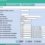 Capturas de pantalla del Módulo de Revalúo Técnico del Cloud ERP Company Kit
